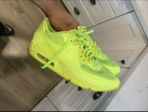 Nike-Air-Max-90-Hyperfuse-Size-11-5-Volt-Solar-Red-Independence-Day-B-no-Box