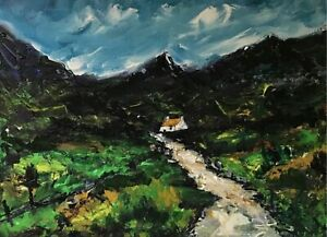 ORIGINAL-PAINTING-Acrylic-On-Canvas-Snowdonia-Trail-40x30cm