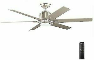 Home Decorators Collection YG493A-BN 54 in Integrated LED Ceiling Fan - Gray