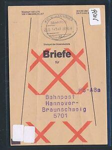96206) Formulaire > Bahnpost Ovalstempel Cologne-hanovre-afficher Le Titre D'origine