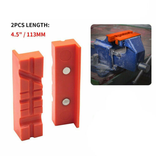 """1 Pair Soft Pad Jaws Rubber For Metal Vise 4.5/"""" Long Pad Vice Bench"""