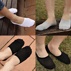 6 Pairs Men Loafer Boat Invisible No Show Nonslip Liner Low Cut Cotton Socks WX