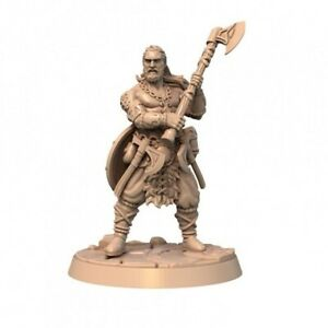 ROLLO-VIKING-BARBARIAN-SCALE-32mm-MORDHEIM-ZOMBICIDE-DnD-ROL-WARHAMMER
