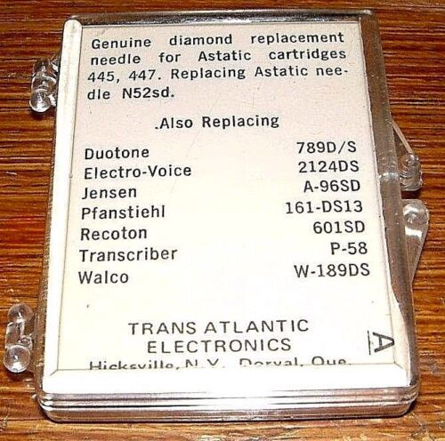 Diamond Phonograph NEEDLE 5048 for ASTATIC N52-7d N43 in 445 447 161-DS13 EV2124