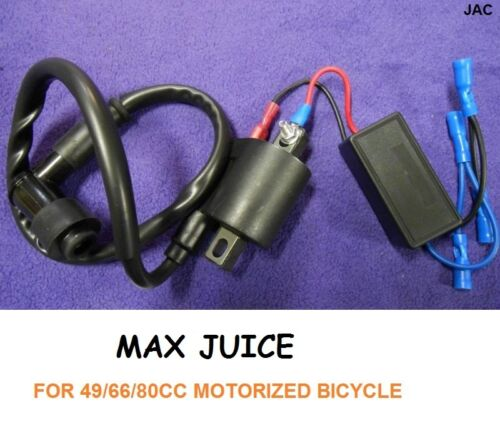 j MAX JUICE HIGH PERFORMANCE SUPER CHARGED CDI FOR 50//80CC MOTORIZED BICYCLE