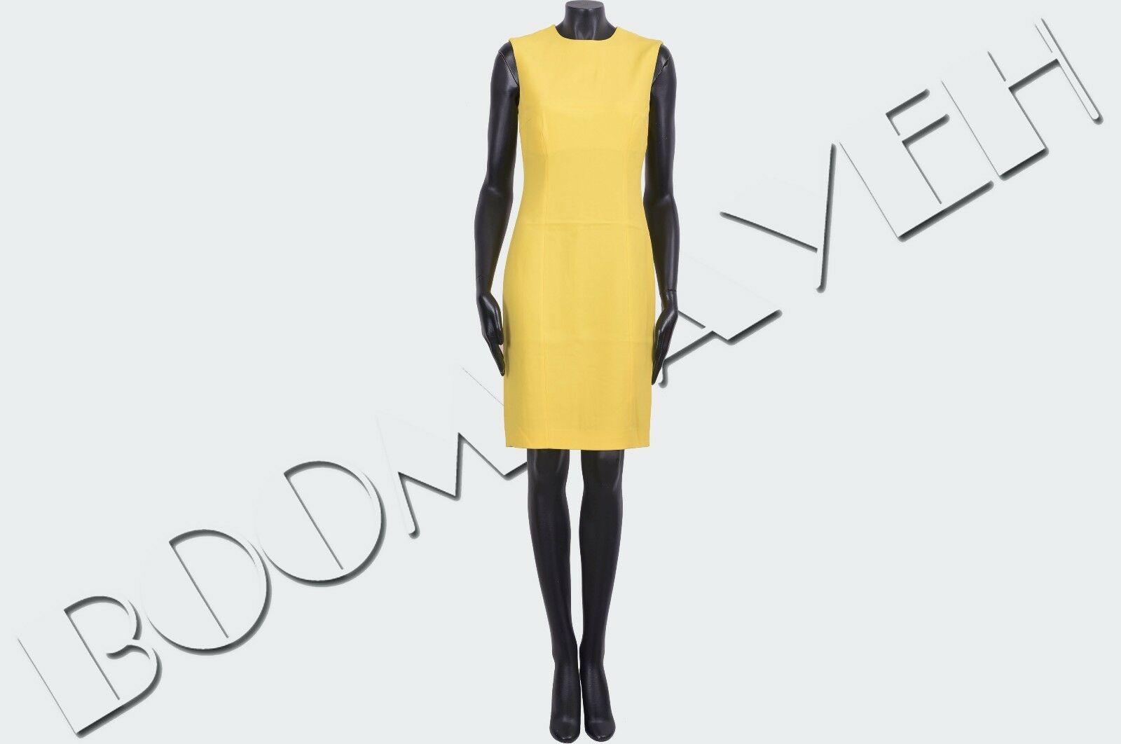DSQUARED 795  Authentic Authentic Authentic New Yellow Viscose Stretch Cady Dress sz 40 1d49d8