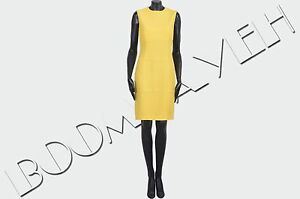 DSQUARED-795-Authentic-New-Yellow-Viscose-Stretch-Cady-Dress-sz-40