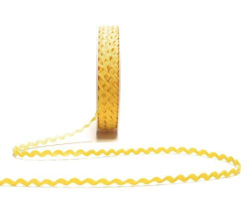 ZACKENLITZE 25m x 5mm GELB Borte Applikation ZickZack DEKOBAND 1m//0,16€