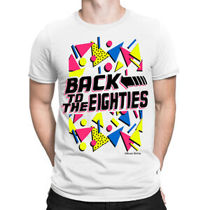 Back-To-The-EIGHTIES-Mens-T-Shirt-FANCY-DRESS-80-s-Party-Weekend-STAG-Costume