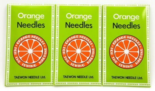 PFAFF SEWING MACHINE NEEDLES ORANGE 15X1 #14BP 30 BROTHER