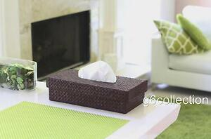 Pandan Woven Tissue Napkin Box Cover Holder Rectangle Hand Made Home Decor