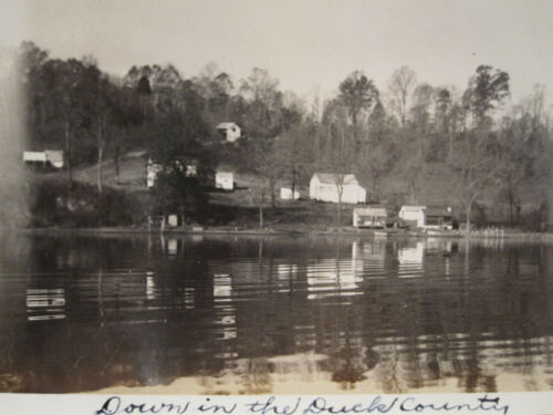 ANTIQUE 1934 DUCK COUNTRY DYNASTY ARTISTIC LAKE COUNTRY SCENE NORTHEAST PHOTO