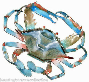 WALL-ART-BLUE-CRAB-METAL-WALL-SCULPTURE-NAUTICAL-DECOR