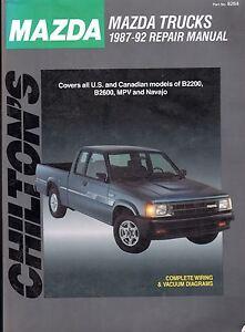1987-1992-Chilton-Mazda-Trucks-Repair-Manual