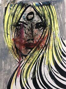 Hasworld original Abstract Expressionist Signed,Street super Lady Pop Graffiti