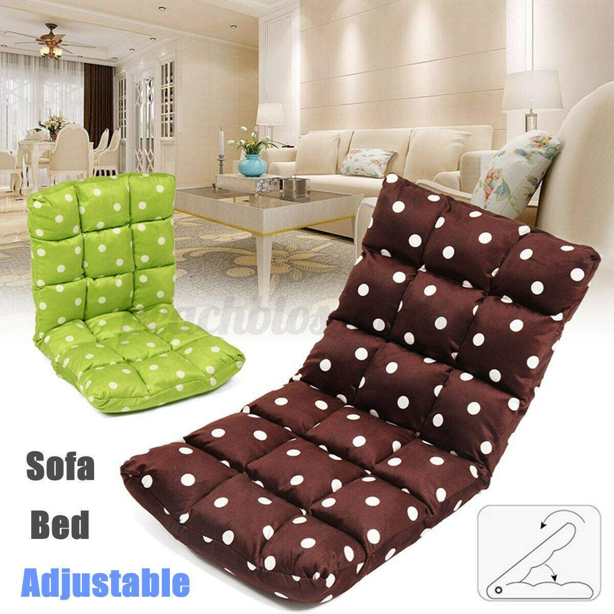 Folding Lazy Sofa Floor Chair Stylish Home Adjustable Sofa Couch Beds Coffee For Sale Online Ebay