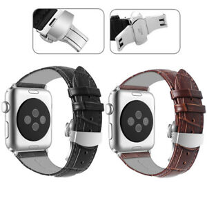 Genuine Leather Strap Wrist Watch Band For Apple Watch Series 3 2 1 42mm Ebay