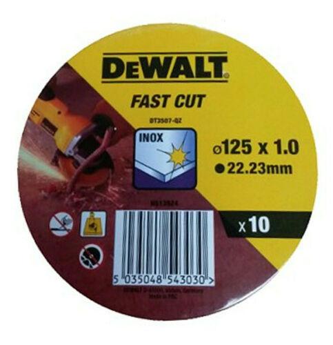 Dewalt DT3507-QZ 125 mm 10 Stück Trennscheibe Millimeterscheibe Edelstahl