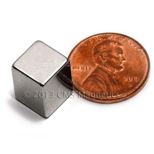 "CMS Magnetics® 4 pieces Neodymium Magnets N50 3//8x3//8x1//2/"""