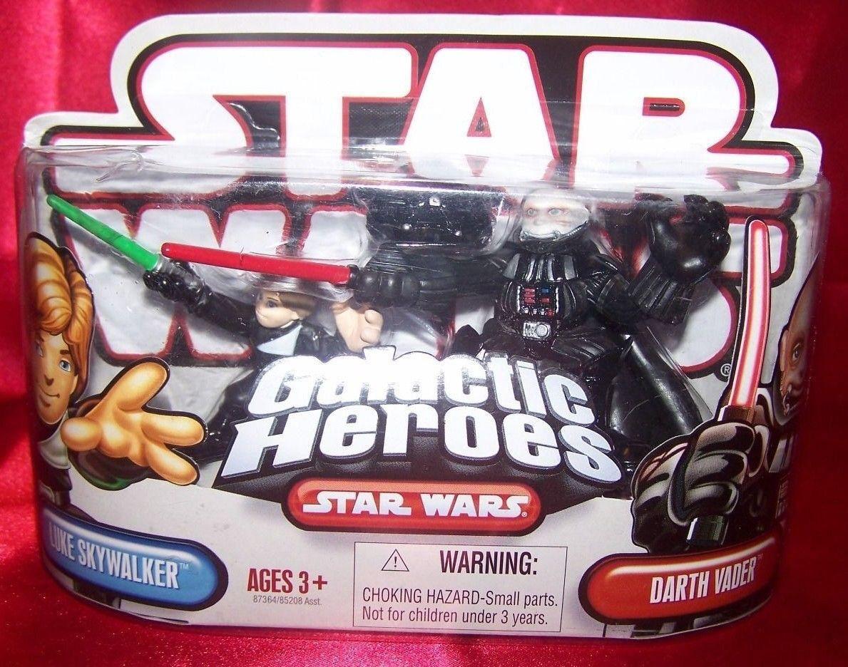 Star Wars Galactic Heroes 2010 Luke Jedi Knight & Darth Vader