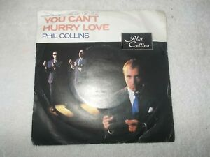 Vinyl-7-inch-Record-Single-Phil-Collins-You-Can-039-t-Hurry-Love-1982