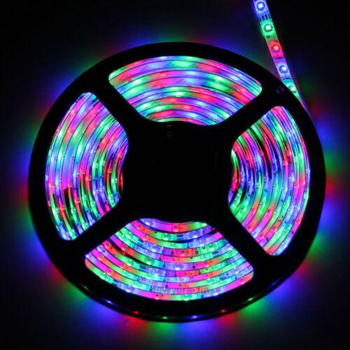 RGB Waterproof LED Strip Light SMD 44 Key Remote 12V DC Power Kit 5050 3528
