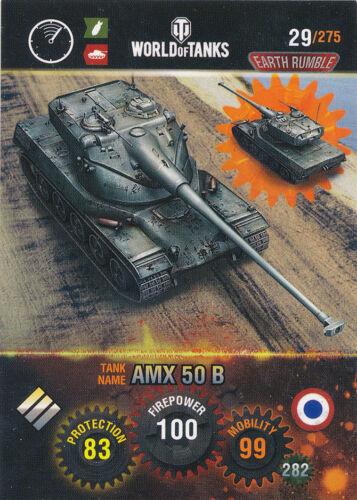 AMX 50 B Panini World of Tanks trading cards nº 29-Nom