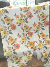 GREAT VINTAGE FLORAL CURTAINS PAIR 1960s 70s