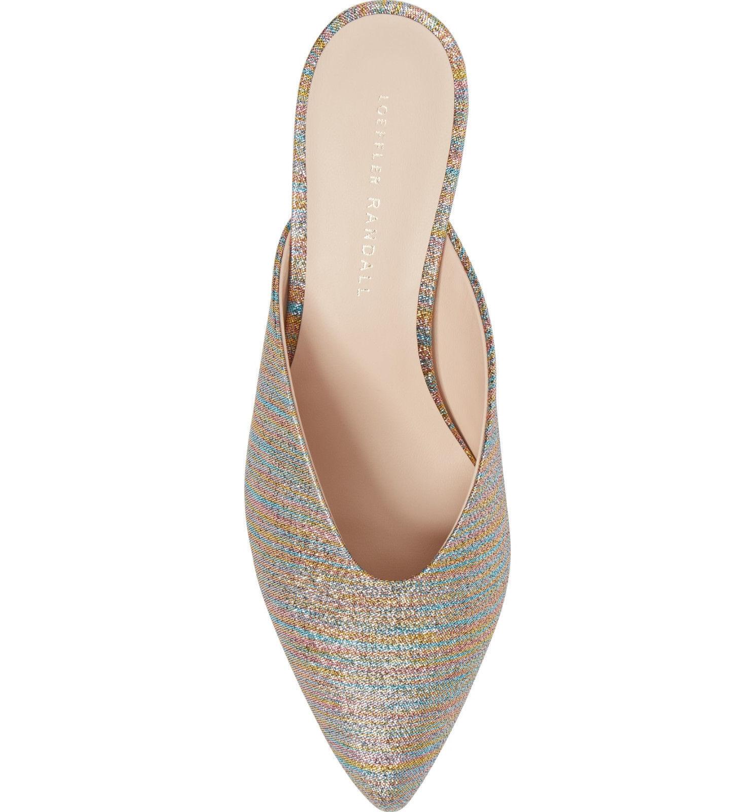 669ea40bfd Loeffler Randall Juno Glitter Rainbow Stripe Mule Sandal US 6 Kitten Heel  Pump for sale online   eBay