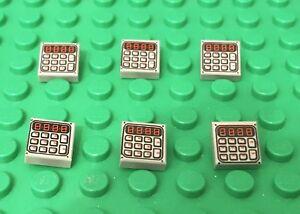 Lego Legos Set of  4 Bar 1 x 6 with Studs Closed  LIGHT GRAY