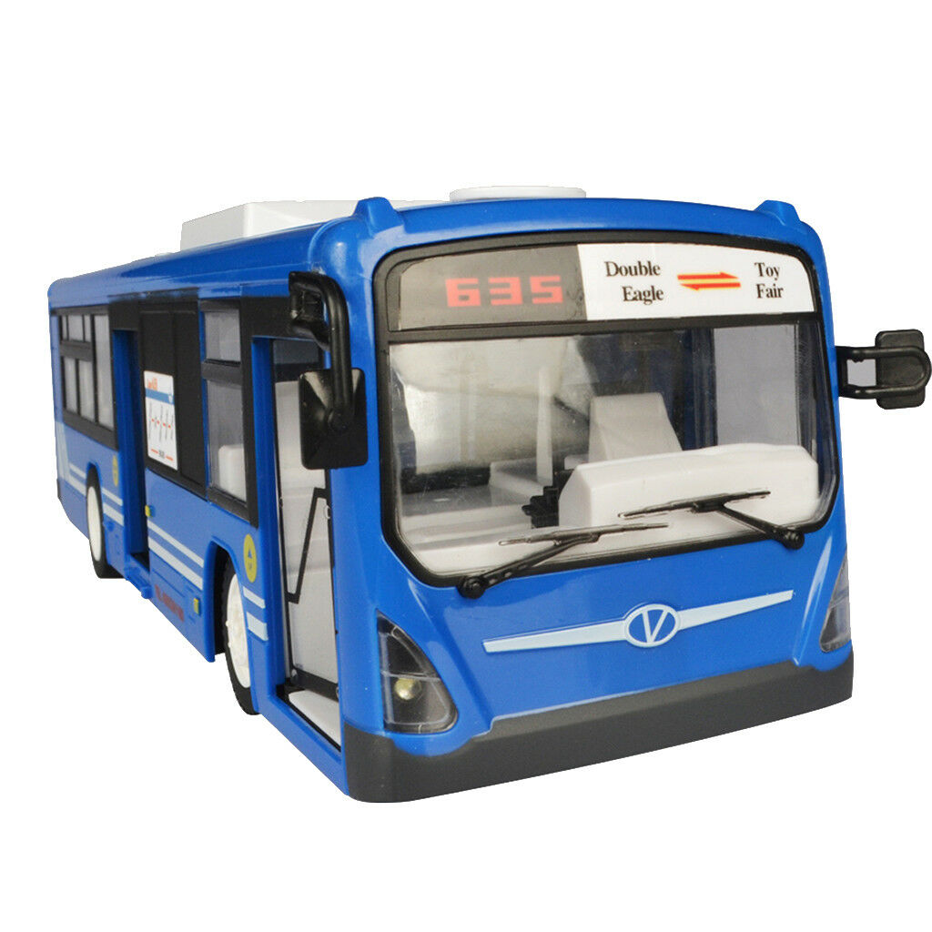 1 12 Rechargeable Remote Control Bus With Light & Sound Kids RC Vehicles Toy