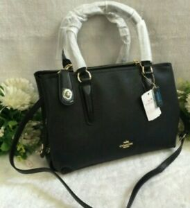 Coach-Bag-Brooklyn-Satchel-Handbag-Sling-Crossbody-black