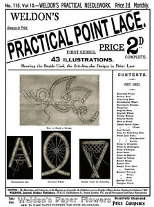 Weldon's 2D #115 c.1894 Vintage Instructions in Victorian Point Lace (1st Book)