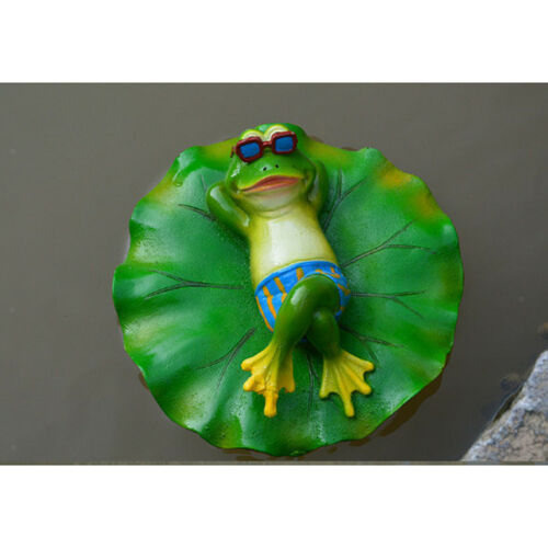 Summer Animal Ornament Water Floating Lotus Leaf Frog Bathtub Garden Decor