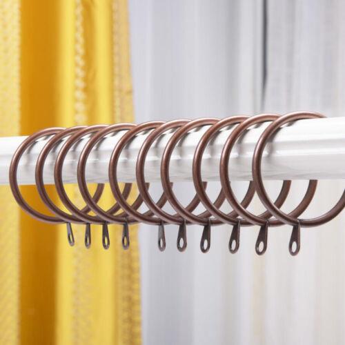 10x Decorative Drapery Window Curtain Rings 1.1-1.8 Inch Diameter