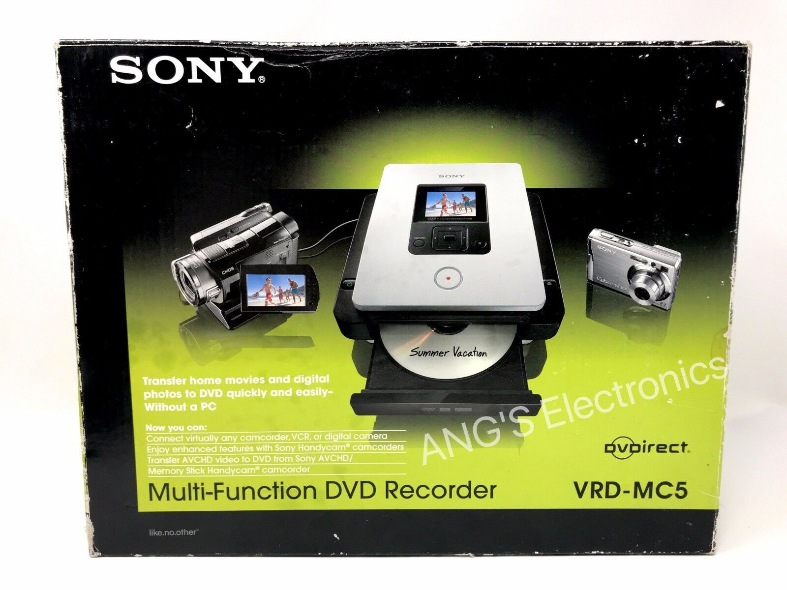 Sony DVDirect VRD-MC5 DVD Recorder (2 5 inch) - Black