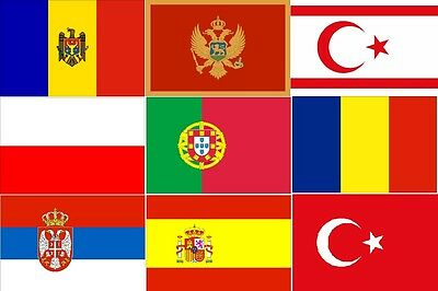 iron on T-shirt Transfer Flags of EUROPE Europian *M-V*   A5 or A4