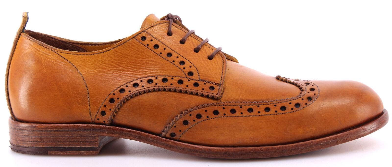 Herren Schuhe MOMA 10707-TG Toscana Giallo Ocra Leder Luxus Handmade  Neu