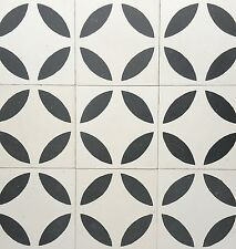 8x8 Circles Geometric Encaustic Cement Tile Floor and Wall (Sold by Piece)