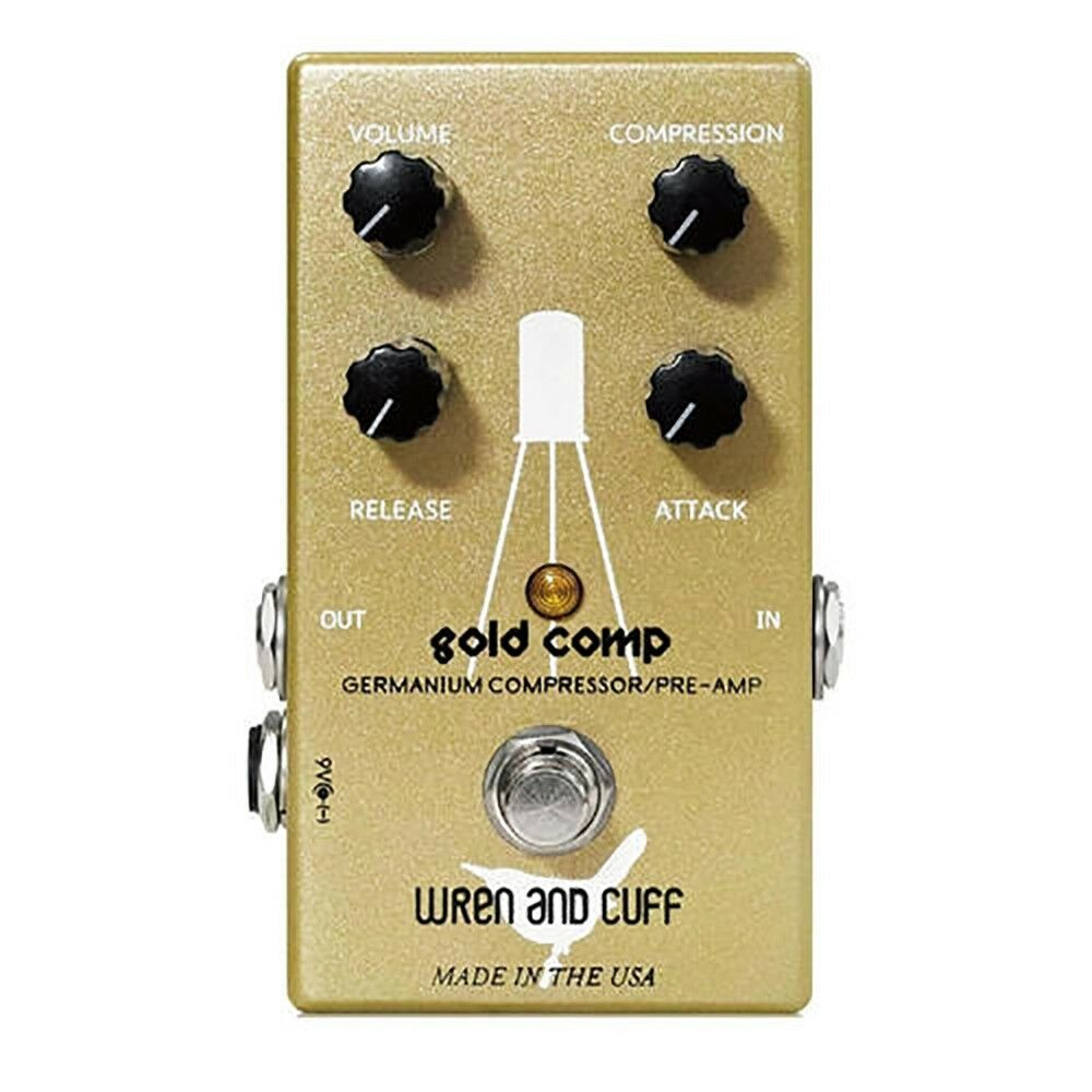 Wren and Cuff Gold Comp Compressor Compression True Bypass Guitar Effects Pedal