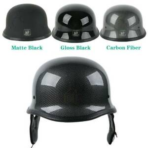 DOT-Motorcycle-German-Half-Face-Racing-Helmet-For-Chopper-Cruiser-Scooter-M-L-XL