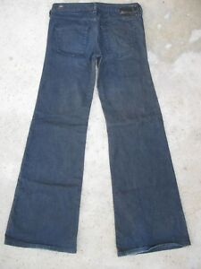 db9413e1 Diesel YBO Jeans Womens Sz 27 Low Rise Wide Leg Flare w Stretch Dark ...