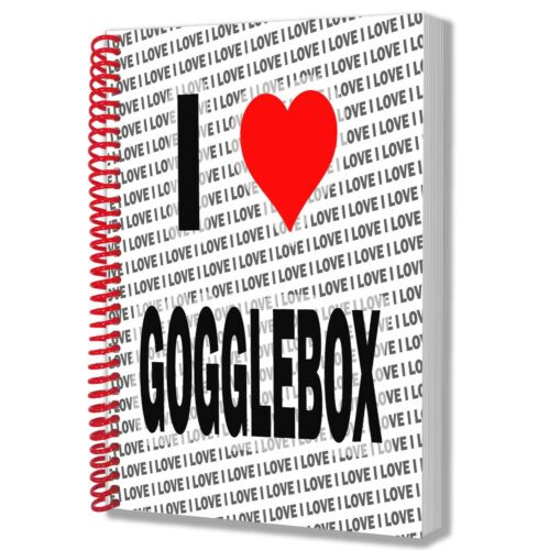 I Love Gogglebox A5 Notebook Pad Diary Drawings Birthday Christmas Gift