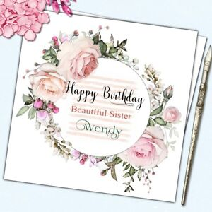 Image Is Loading Personalised Birthday Card Mother Daughter Sister Cousin Friend