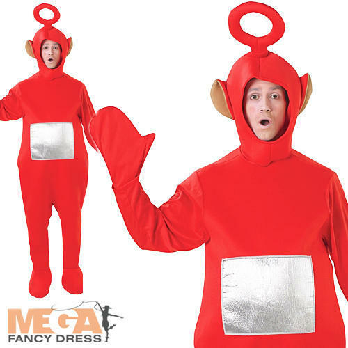 OA RED TELETUBBY adulto licenza BBC Costume TELETUBBIES Uomo Donna Costume