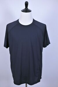 Lululemon-Performance-Crew-Neck-Short-Sleeve-Tech-Tee-Shirt-Black-Men-039-s-XXL-2XL