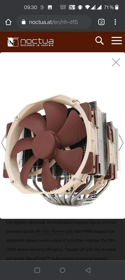 CPU køler, Noctua NH-D15, NH-D15