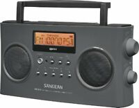 Portable Fm-stereo/am Radio, Home Office Outdoors Picnic Rechargeable Gray on sale