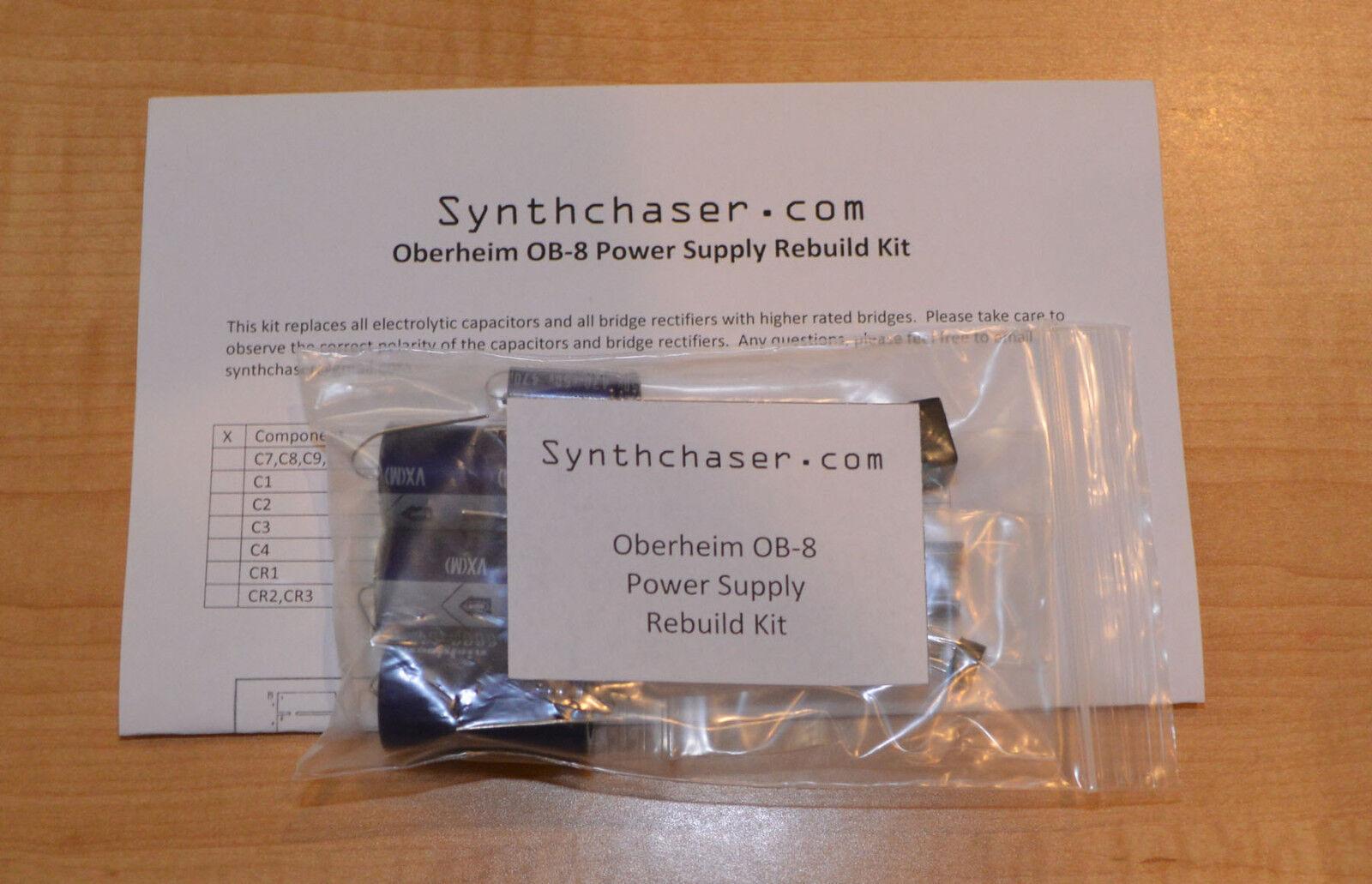 Oberheim OB-8 Power Supply Kondensator & Rebuild Kit - Watch Video