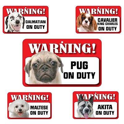 "Warning /""English Setter/"" on Duty-Laminated Cardboard Dog Breed Sign"